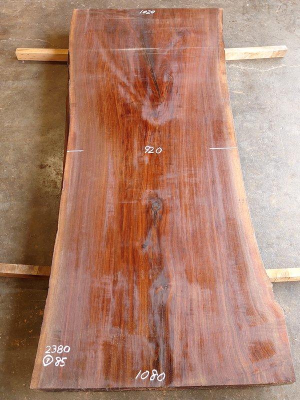 アウトレットWO-160 ブラックウォールナット 天然耳付き板 2380×1000 天然乾燥材