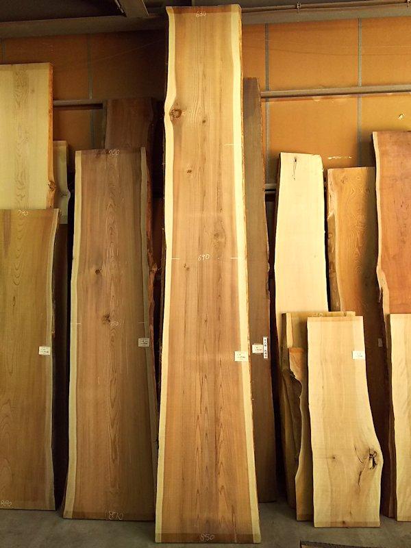S-228 杉スギすぎ 国産 天然耳付き板 4600×700 天然乾燥材