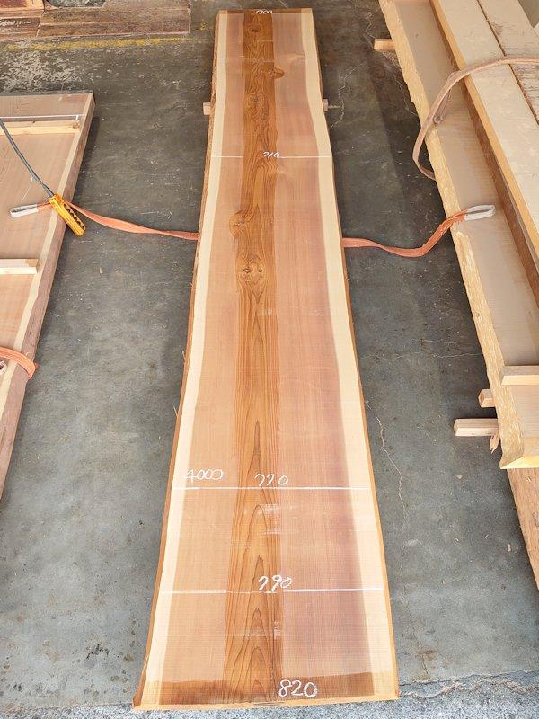 S-243 杉スギすぎ 国産 天然耳付き板 4700×800 天然乾燥材