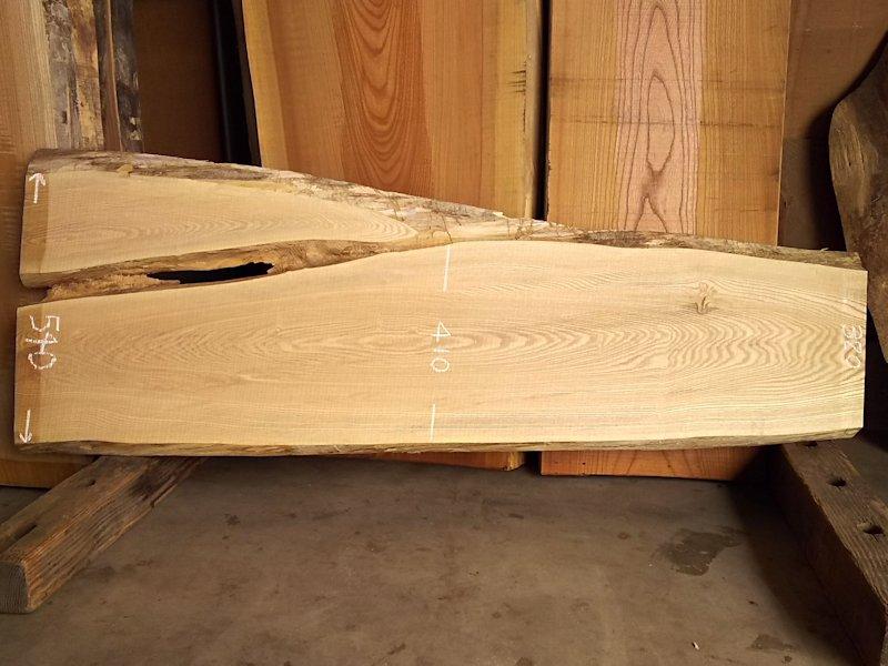 TM-194 タモ 天然耳付き板 1720×450 天然乾燥材
