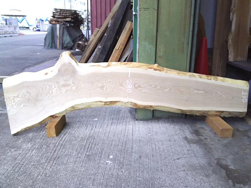 TM-202 タモ 天然耳付き板 1940×400  天然乾燥材
