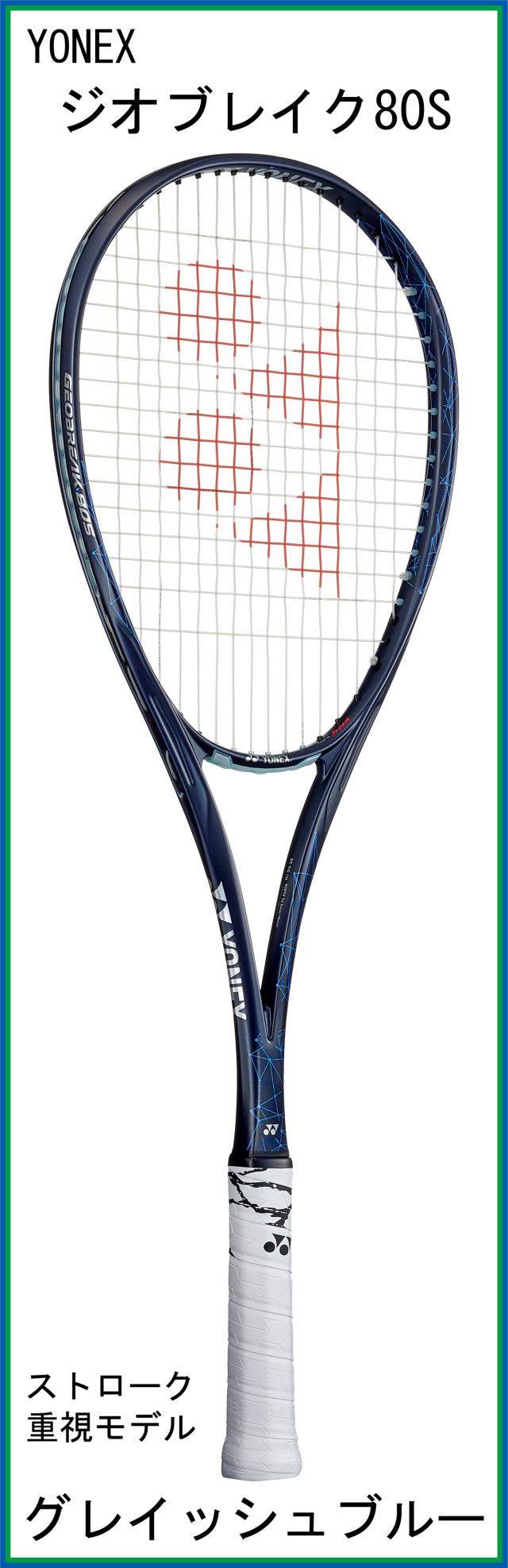 【新デザインラケット】 ヨネックス GEOBREAK 80S ジオブレイク80S (グレイッシュブルー) (2021年7月発売)