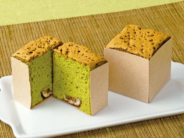 渋皮栗と抹茶のバターケーキ(キューブ)