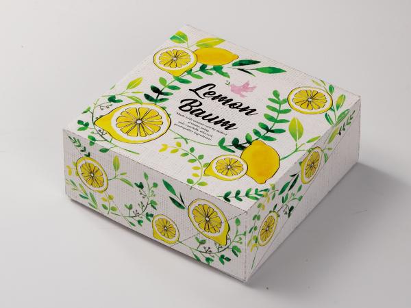 レモンのバウムクーヘン箱