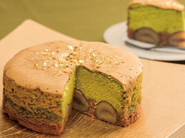渋皮栗と抹茶のプレミアムバターケーキ