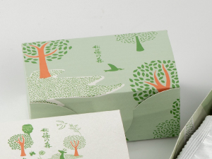 秋篠の森5個入箱_薄緑