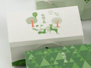 秋篠の森5個入箱_白