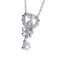 ◆天使の卵 Heartful Key ロジウムペンダント【天使1182BTRM】