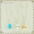 ◆即日発送◆天使の卵 天然石シルバーペンダント(チェーン2種類付) 【天使8113】