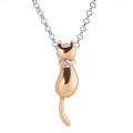 ◆即日発送◆未来天使 エンジェルフレンズ ミニシルバーペンダント 【MIP1161D-PK】 [ネコ 猫 ねこ ピンクゴールドコーティング ダイヤモンド アニマルモチーフ 動物]