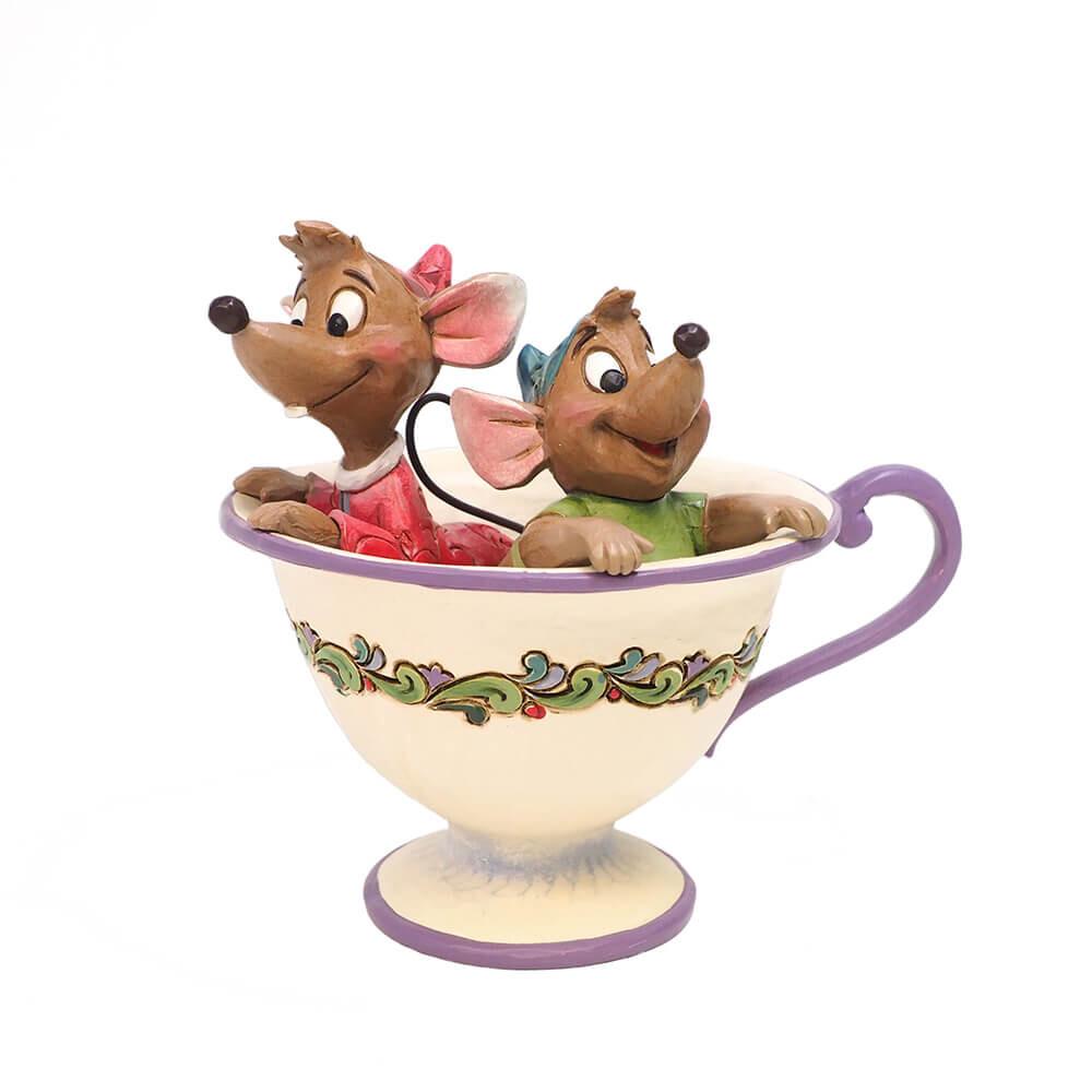 シンデレラ グッズ ねずみ ジャック ガス グッズ 置物 Disney Traditions 誕生日 プレゼント ディズニー グッズ フィギュア 置物 ジャック&ガス ティーカップ 返品交換不可