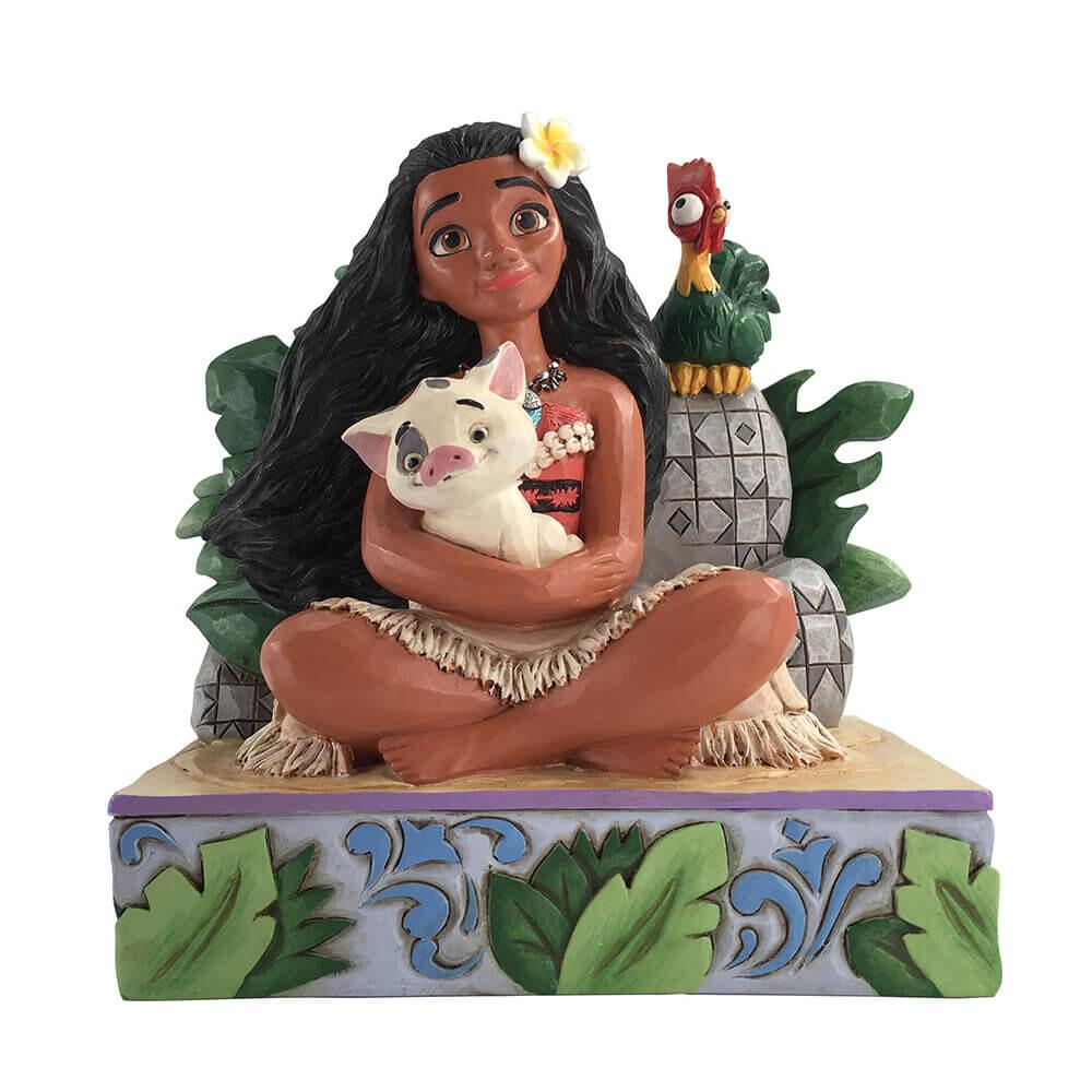 モアナ ウェルカム トゥ モトゥヌイ グッズ 置物 Disney Traditions 誕生日 プレゼント ディズニー グッズ フィギュア 置物 モアナ  返品交換不可
