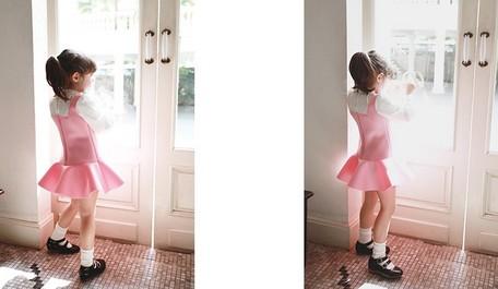 おでかけルック ワンピース 子供服 全2色(ピンク/ブラック) サイズ(90/100/110/120/130cm)  ≪ネコポス不可≫ [M便1/0]