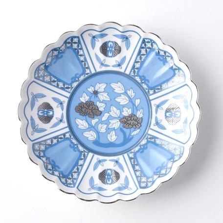 kotohogu 皐月 15cm ai 藍 青 波佐見焼 小皿 ギフト 和食器 かわいい 花 母の日 ギフト 敬老の日 ギフト パーティー 返品交換不可