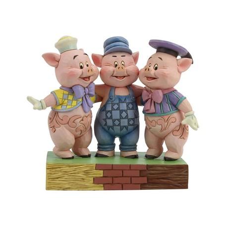三匹の子ぶた ディズニー グッズ 置物 Disney Traditions 誕生日 プレゼント ディズニー グッズ フィギュア 置物  ディズニー 動物 豚 置物 ギフト 返品交換不可