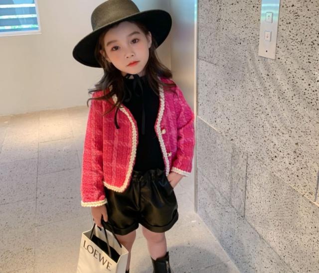 キッズ ジャケット ピンク アウター 子供服 ツイード ジャケット おしゃれ 韓国 子供服 可愛い ワンピース 可愛い ワンピース 韓国 衣装 返品交換不可 エンジェルローブヴィセ プチヴィセ petit visee