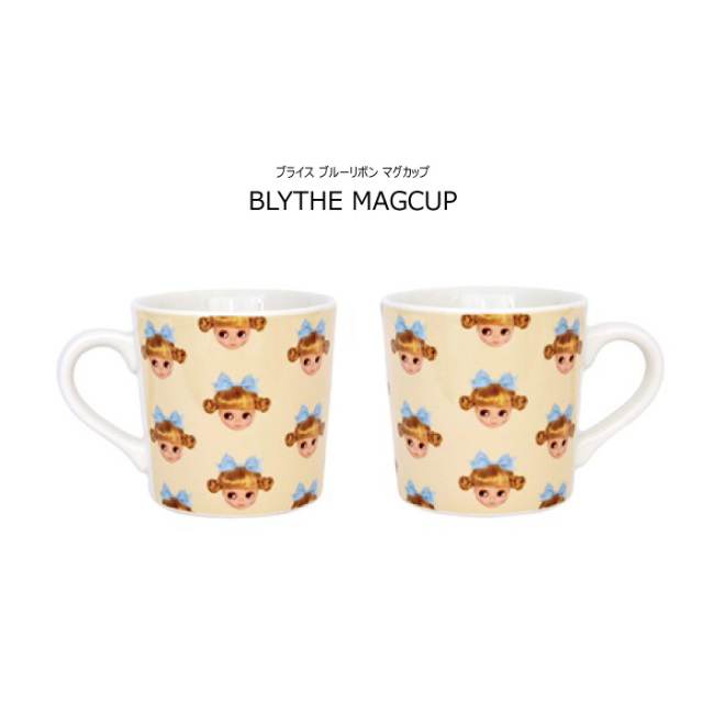 Blythe ブライス マグカップ ブルーリボン 日本製 返品交換不可 ネコポス不可商品 [M便1/0]<BR><BR>[Blythe ブライス マグカップ ギフト ロリータ kawaii プレゼント]