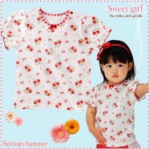 【赤すぐ掲載】【厳選アイテム・期間限定SALE価格】お姫さまテイストの夏Tシャツ<Sweet girl> 70センチ