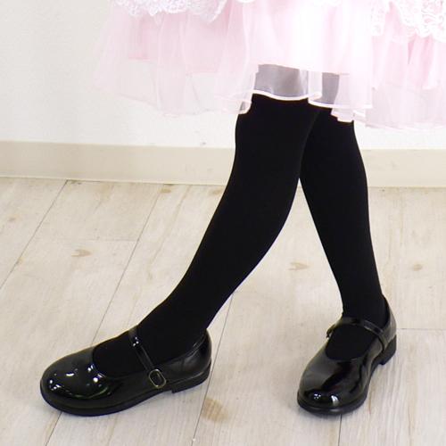 日本製子供用無地タイツ 50デニール キッズサイズ 通園通学・お出かけにも。白・黒2色 単品の場合はメール便発送もあります。
