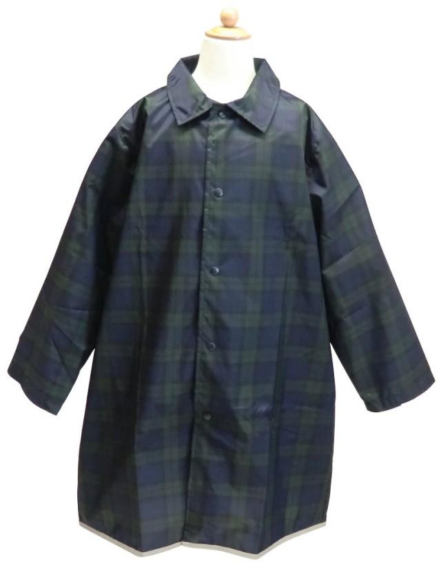 男児用タータンチェックのランドセル対応レインコート フード取り外し可能 カッパ 雨具 小学生【天使のドレス屋さん】