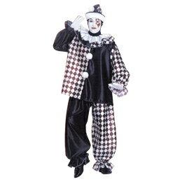 ルービーズ社 アダルト Pierrot Pete(ピエロ ピート) 大人コスチューム Stdサイズ ネコポス不可 返品交換不可 [M便1/0]