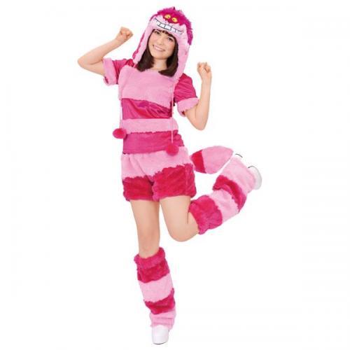 ハロウィン 仮装 コスプレ 衣装 レディース チシャネコ チェシャネコ 猫 ルービーズ社 ディズニー コスプレ モコモコ コスチューム アダルト ネコポス不可 返品交換不可
