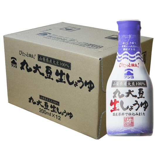 丸大豆生しょうゆ200ml×12本セット【ケース割引】