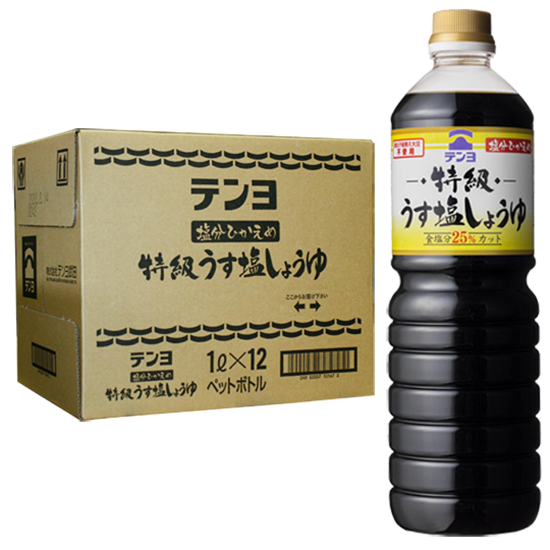 特級うす塩しょうゆ 1L×12本【ケース割引】