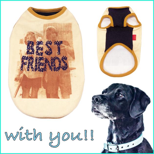愛犬 と おそろいコーデ フォト プリント ★犬 の 洋服★ テラヘルツ タンクトップ      【12317】ドッグ タンクトップ