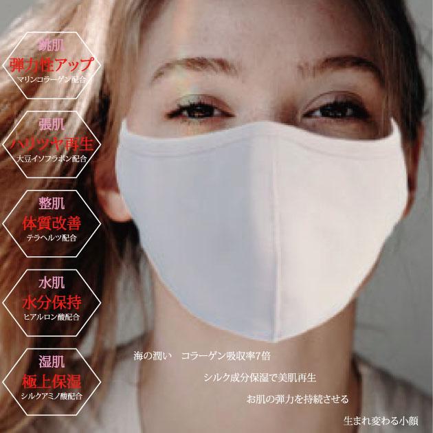 しっとり【うるおい 美肌 テラ マスク 】アップデートモデル 美容成分入の 新しいタイプ の 小顔 エステ【BZ-01】 マスク