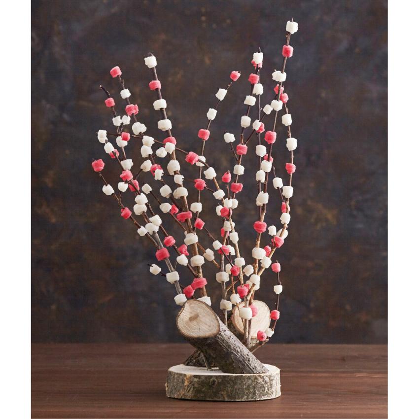 正月用 天然木 餅花飾り