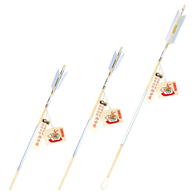 干支小型絵馬(子)・破魔矢セット 白木軸/竹軸