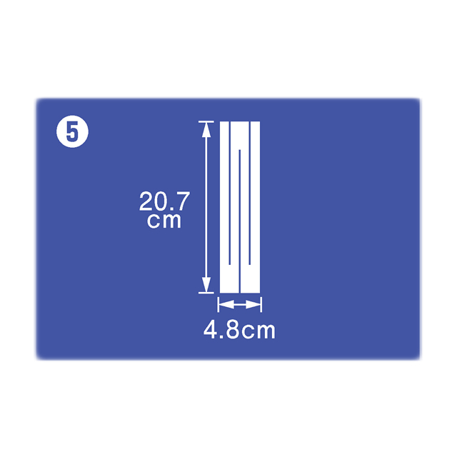御幣紙 20.7cm×4.8cm