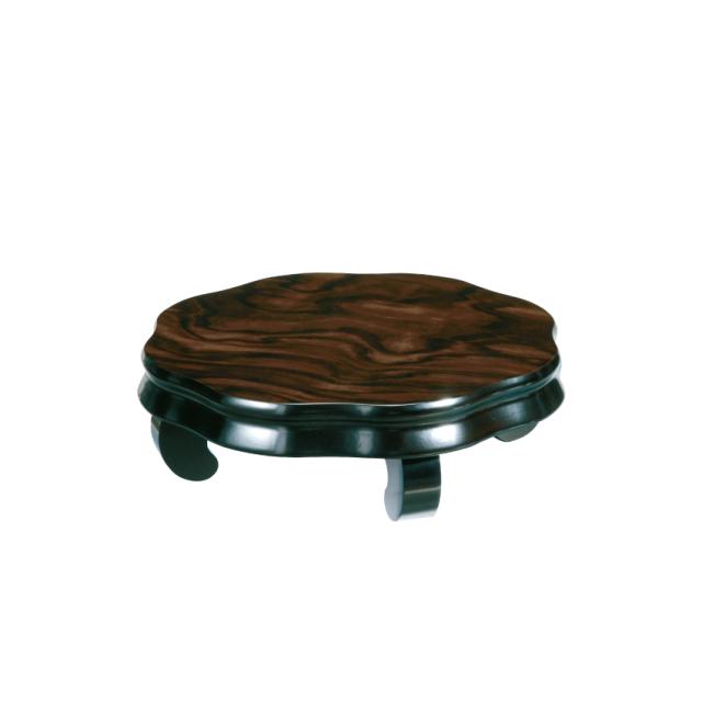 木製 花台 ひまわり 黒檀調 1個