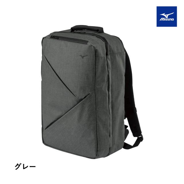 【MIZUNO】トラベルバックパック 28L グレー