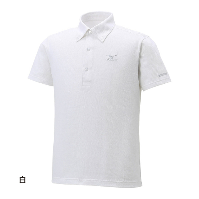 ハイドロ銀チタン ポロシャツ 白