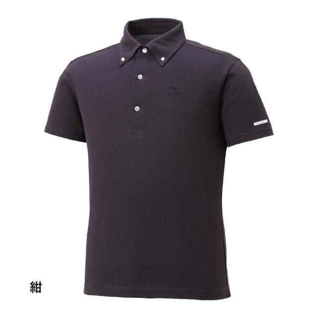 ハイドロ銀チタン ポロシャツ 紺
