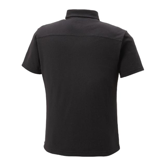 ハイドロ銀チタン ポロシャツ 黒  背中