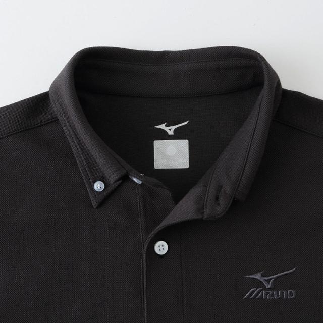 ハイドロ銀チタン ポロシャツ 黒