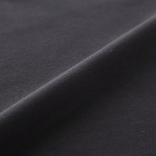 ハイドロ銀チタン ポロシャツ 黒  生地