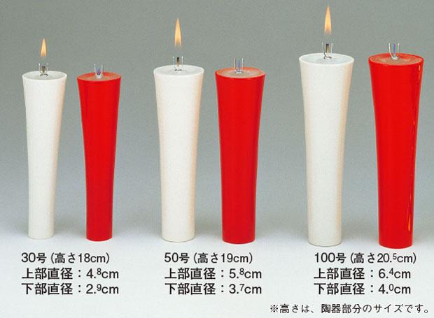 ロウソク型灯明具<永久の灯>