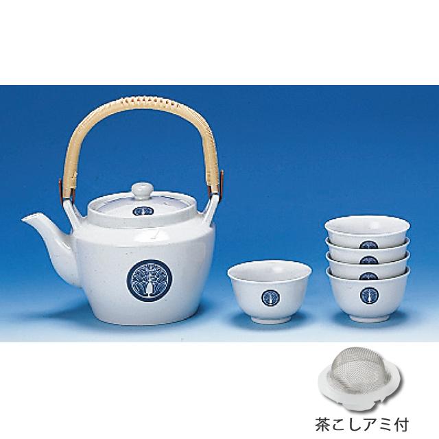 寺紋・寺名入り 湯呑茶碗・土瓶セット