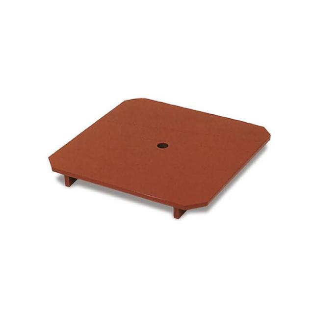 木製朱塗 下須板 スベラーズ加工 寸法:25cm角×高さ3cm(三宝9寸用)