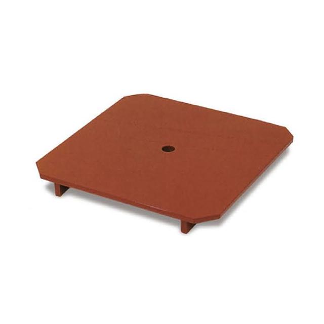 木製朱塗 下須板 スベラーズ加工 寸法:28cm角×高さ4cm(三宝1尺用)