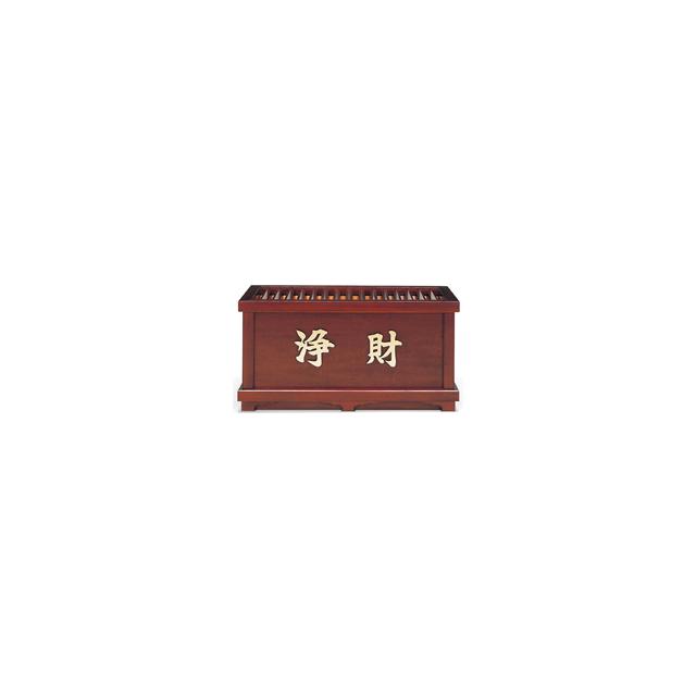 木製 欅風仕上・賽銭箱(2尺)