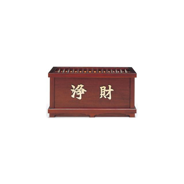 木製 欅風仕上・賽銭箱(3尺)