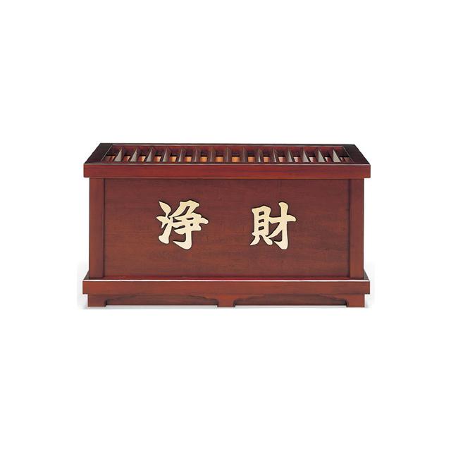 木製 欅風仕上・賽銭箱(4尺)