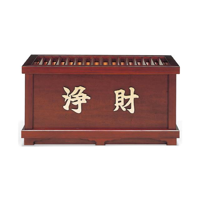 木製 欅風仕上・賽銭箱(5尺)