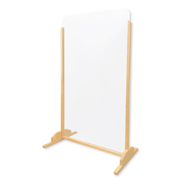 簡易組立式 木製スタンド 飛沫防止パーティション 高さ184cm