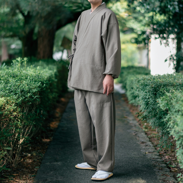 通年用 ストレッチ 風紋作務衣